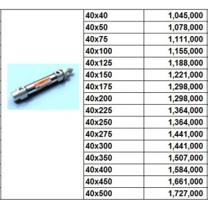 Xylanh khí TPC dòng AXE bore size 40