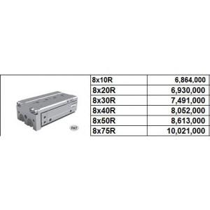 Xy lanh bàn trượt NLCD bore size 8 có 2 cữ điều chỉnh hành trình 2 phía