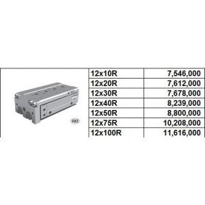 Xy lanh bàn trượt NLCD bore size 12 có 2 cữ điều chỉnh hành trình 2 phía