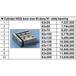 Xy lanh TPC NGQ bore size 63 dạng M - slide bearing