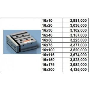 Xy lanh TPC NGQ bore size 16 dạng M - slide bearing