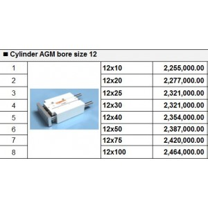 Xy lanh TPC dòng AGM bore size 12