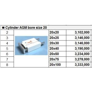 Xy lanh TPC dòng AGM bore size 20