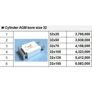 Xy lanh TPC dòng AGM bore size 32