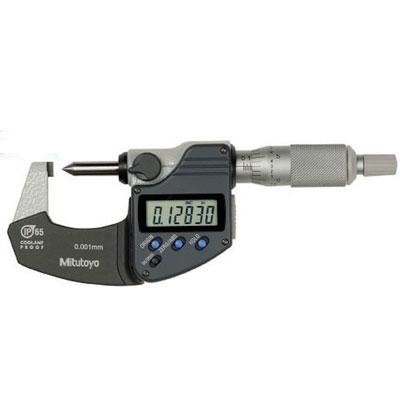 Panme đo ngoài điện tử đầu nhọn IP65 Mitutoyo 342-271-30 (0-20mm/ 0.001mm)