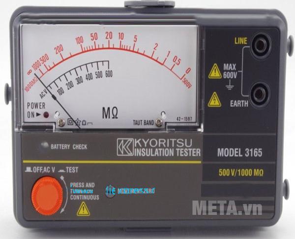 Đồng hồ đo điện trở cách điện Kyoritsu 3165