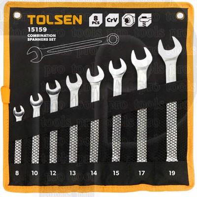 Bộ 8 chìa khóa miệng Tolsen 15159