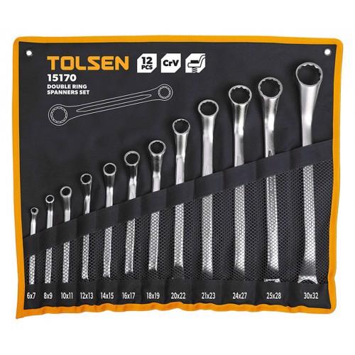 Bộ 12 chìa khóa vòng-vòng Tolsen 15170