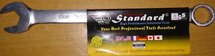 Cờ lê vòng miệng 19mm Standard