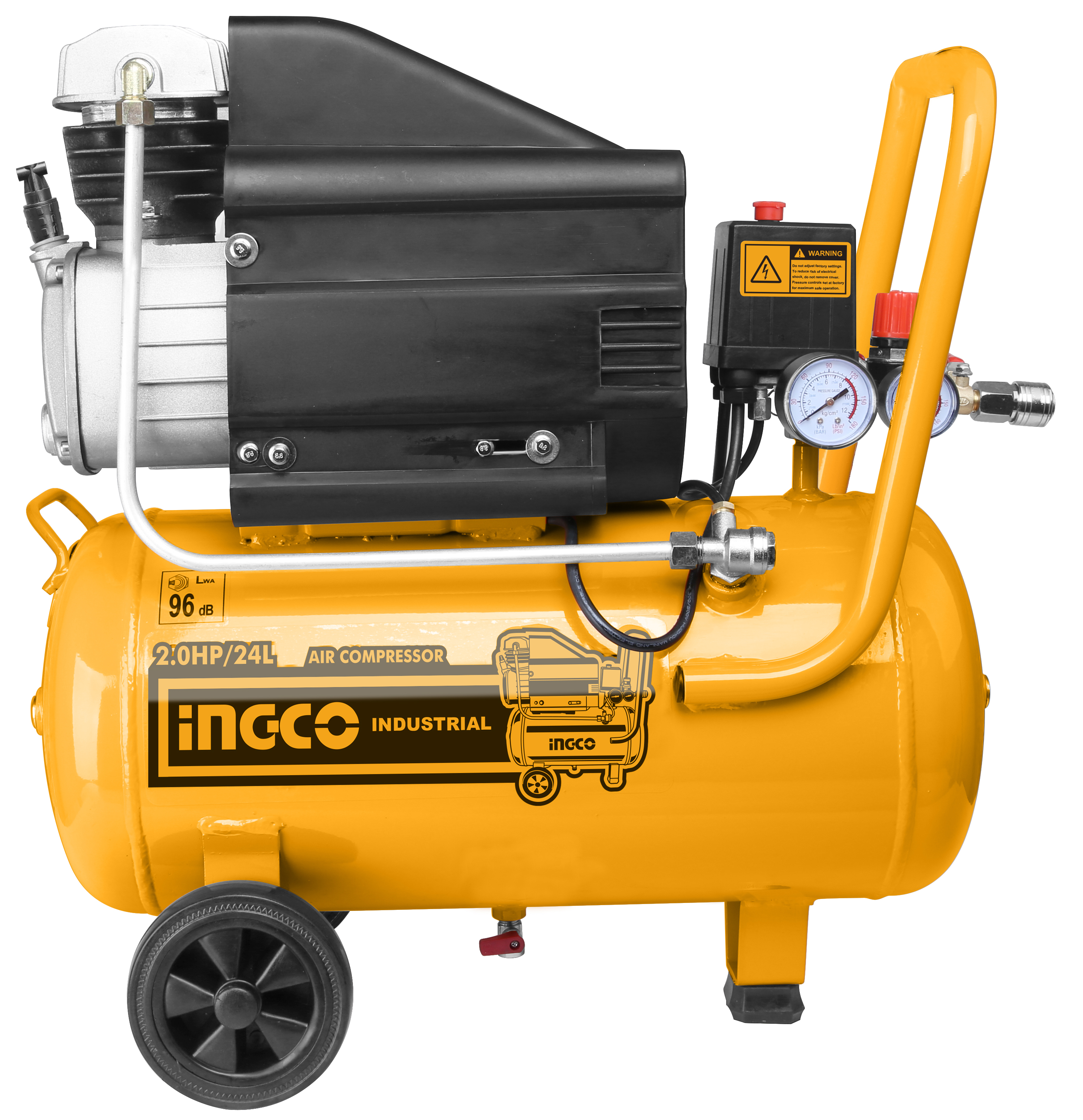 Máy nén khí có dầu 24L INGCO AC20248T