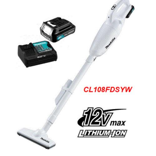 Máy hút bụi dùng pin Makita CL108FDSYW (Kèm pin và sạc)