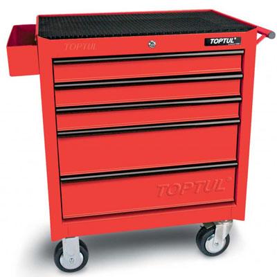 Tủ 5 ngăn có bánh xe di động-( Màu đỏ) Toptul TCAA0502