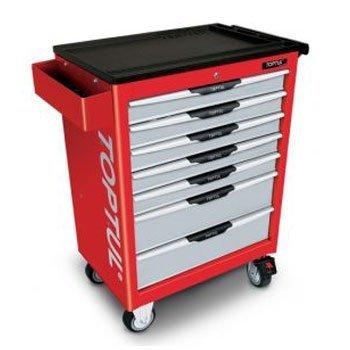 Bộ tủ dụng cụ 7ngăn màu đỏ 157 chi tiết Toptul GCAJ0059