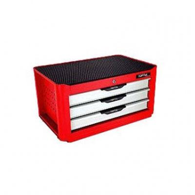 Hộp đồ nghề 3 ngăn chuyên dùng thế hệ mới TOPTUL TBAF0302 (màu đỏ)