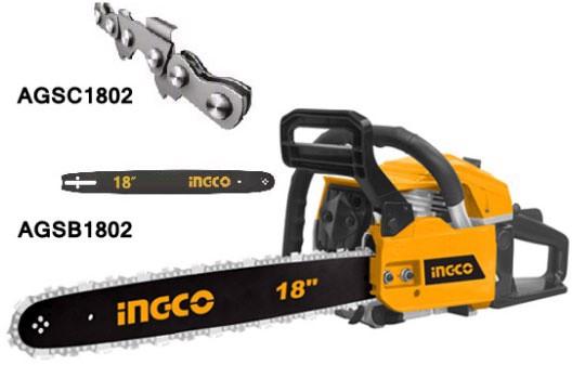 """18"""" Máy cưa xích dùng xăng 1.8kW INGCO GCS45184"""