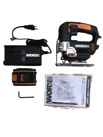 20V Máy cưa lọng dùng pin Li-ion Worx Orange WX543