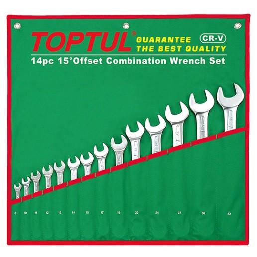 Bộ cờ lê vòng miệng mờ 14 món Toptul GAAA1404