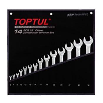 Bộ cờ lê vòng miệng mờ 14 món Toptul GPAB1406