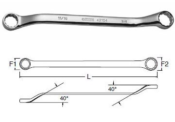 Cờ lê hai đầu vòng 10mm x 12mm Sata 42-202 (42202)