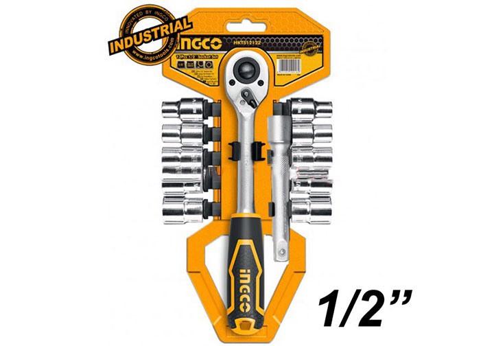 """10-24mm Bộ đầu tuýp 12 cái 1/2"""" INGCO HKTS12122"""