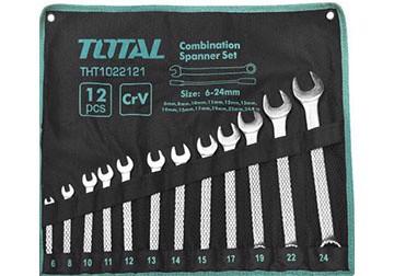 6-24mm Bộ cờ lê vòng miệng 12 chi tiết Total THT1022121