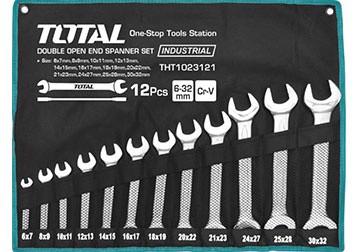 6-32mm Bộ cờ lê hai đầu miệng 12 chi tiết Total THT1023121