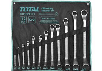 6-32mm Bộ cờ lê hai đầu vòng 12 chi tiết Total THT1024121