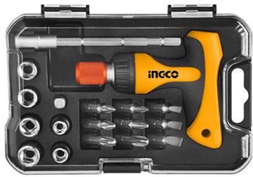 Bộ mũi vít và đầu tuýp 18 chi tiết INGCO HKSDB0181