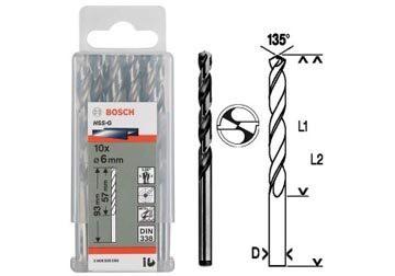 1mm Bộ mũi khoan sắt 10 mũi HSS-G Bocsh 2608595049