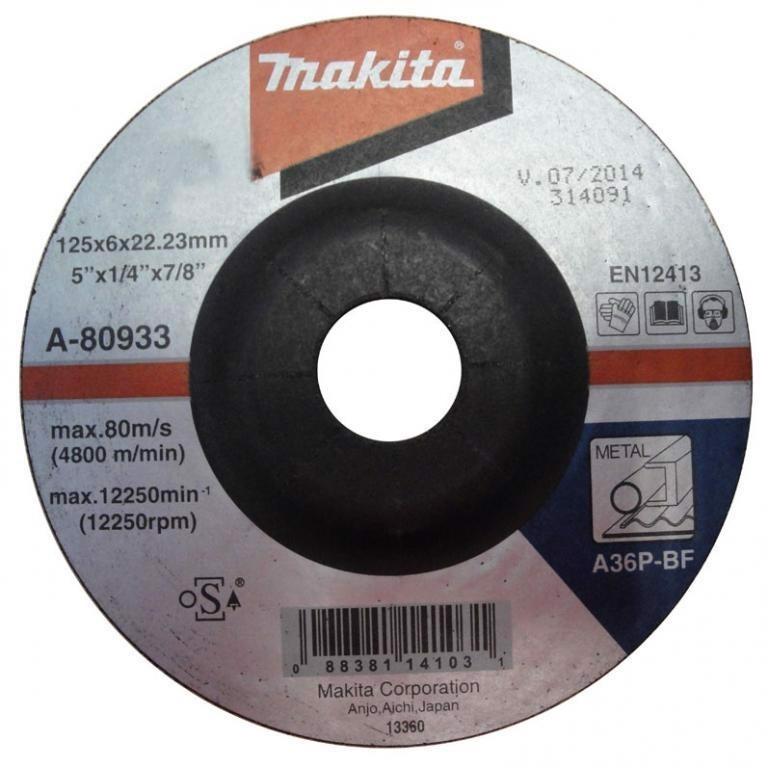 125x6x22.23mm Đá mài kim loại Makita A-80933