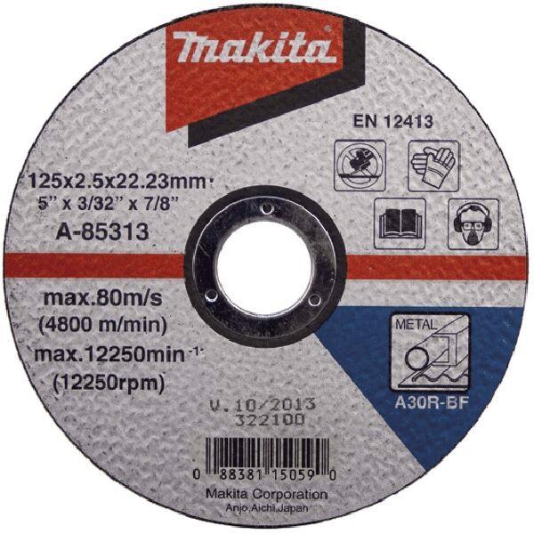 Đá cắt cho kim loại 125 x 2.5 x 22.2mm Makita A-85313