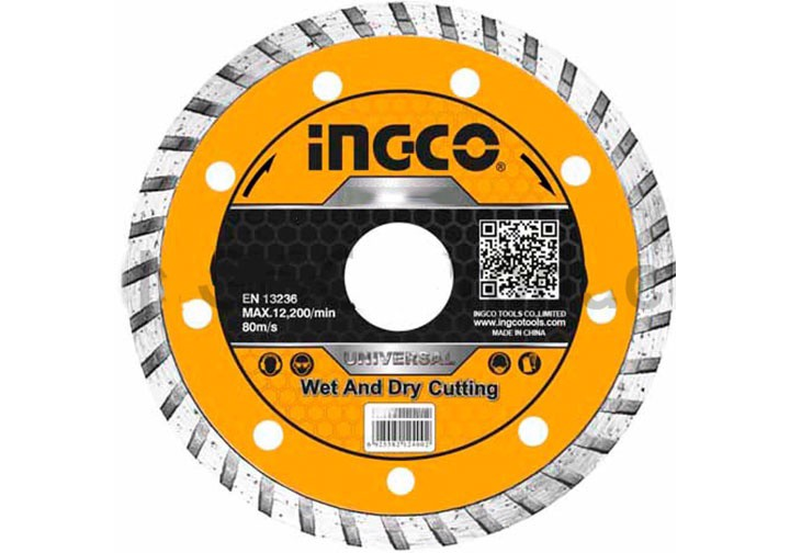 """125(5"""")x22.2mm Đĩa cắt gạch đa năng INGCO DMD031252"""