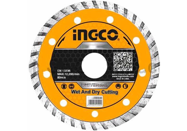 """125(5"""")x22.2mm Hộp đĩa cắt gạch đa năng 10 lưỡi INGCO DMD031252M"""