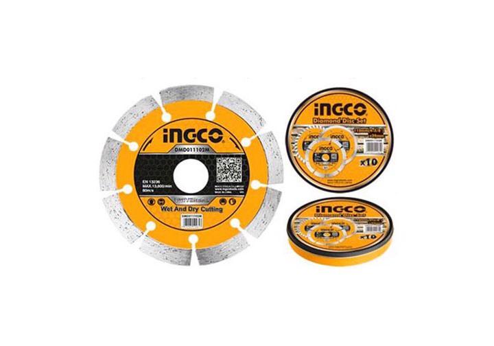 """125(5"""")x22.2mm Hộp đĩa cắt gạch khô 10 lưỡi INGCO DMD011252M"""
