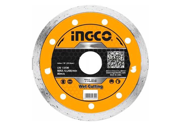 """125(5"""")x22.2mm Hộp đĩa cắt gạch ướt 10 lưỡi INGCO DMD021252M"""