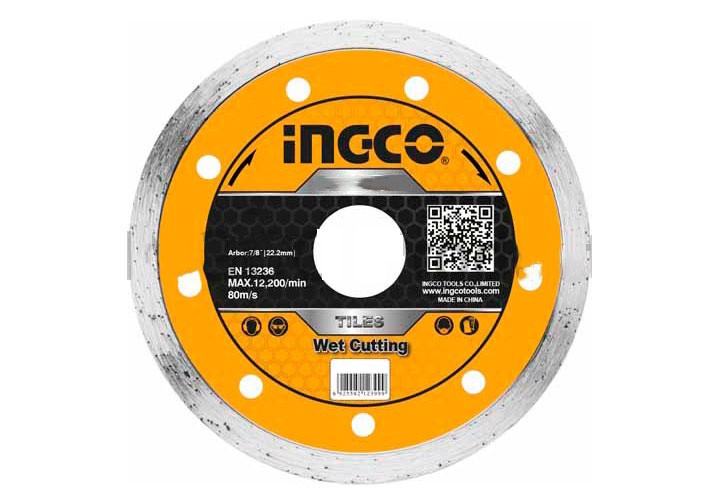 """180(7"""")x22.2mm Hộp đĩa cắt gạch ướt 5 lưỡi INGCO DMD021802M"""