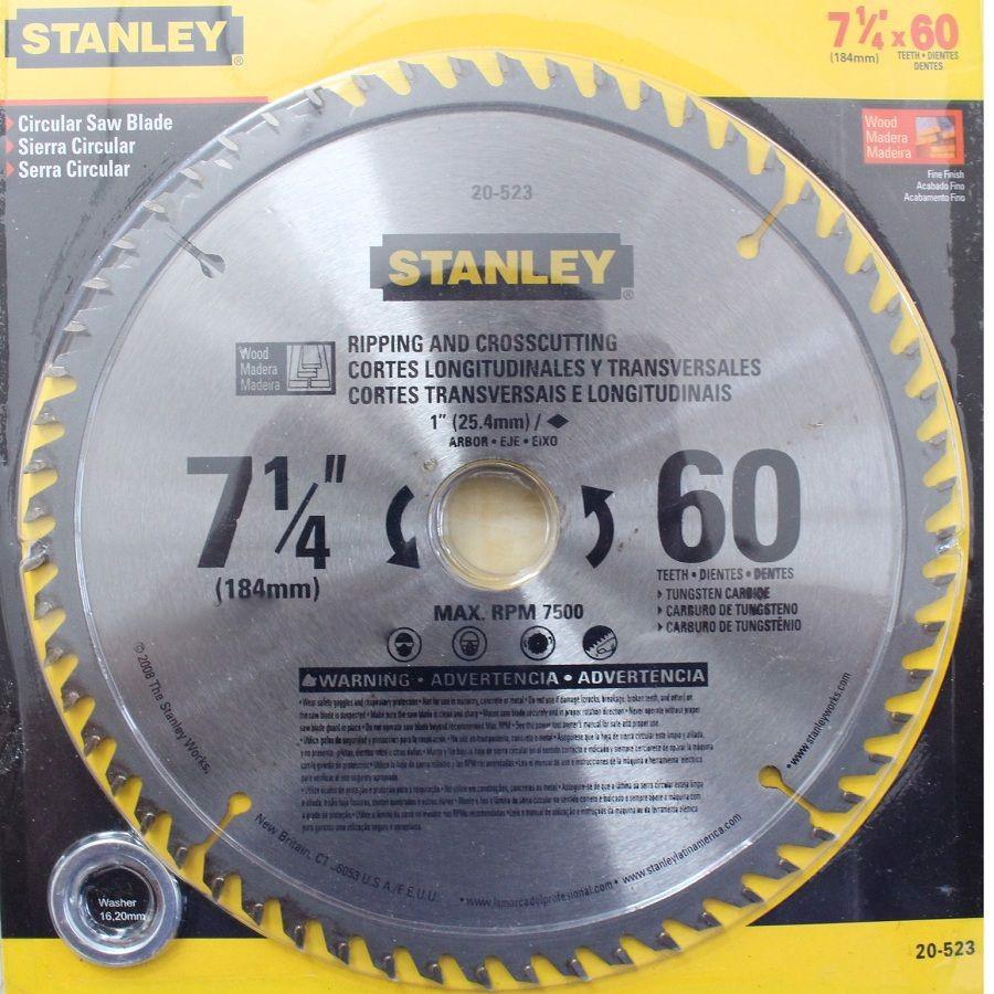 184 x 25.4 x 60T Đĩa cưa gỗ hợp kim 60 răng Stanley 20-523