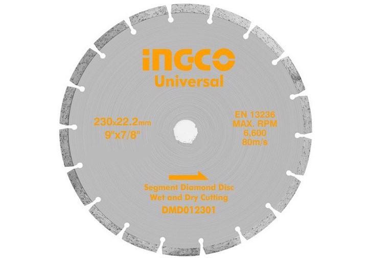"""230(9"""")x22.2mm Đĩa cắt gạch khô INGCO DMD012301"""