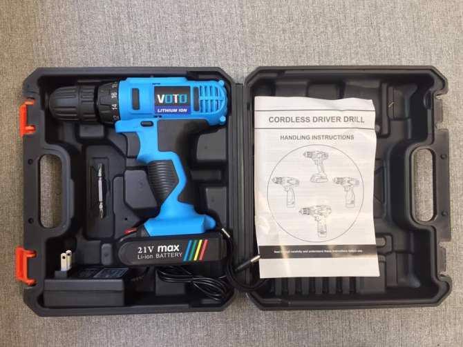 Máy Khoan Pin Vặn Vít VOTO 21V - 1Pin - Hộp Nhựa