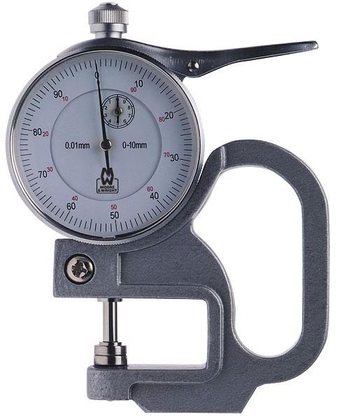 0-10mm Đồng hồ đo độ dày Moore Wright MW455-25