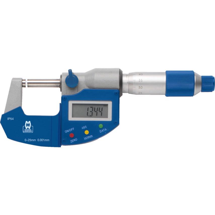 25-50mm Panme đo ngoài điện tử Moore Wright MW201-02DAB