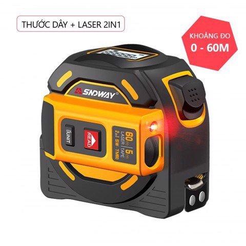 Thước dây và Laser 2 trong 1 đo khoảng cách SNDWAY SW-TM60