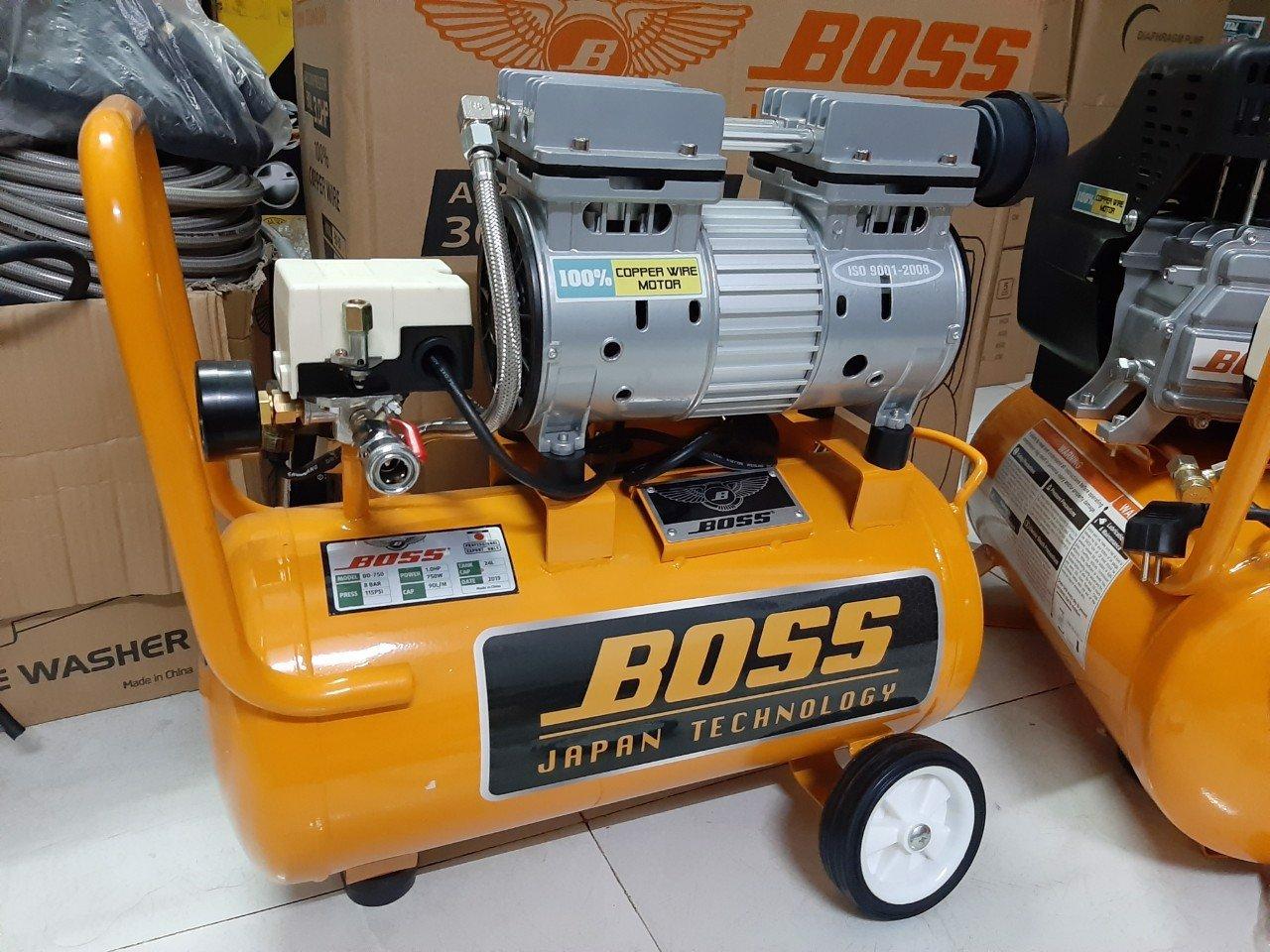 Máy nén khí không dầu Boss 1HP 24lit