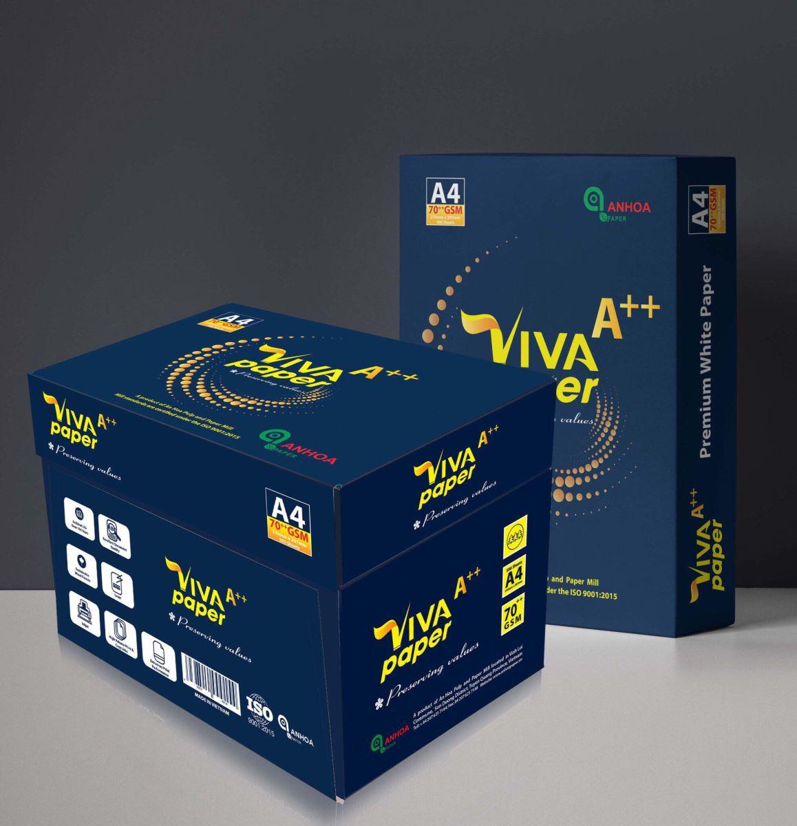 Giấy in viva paper A++ 70 gms A4