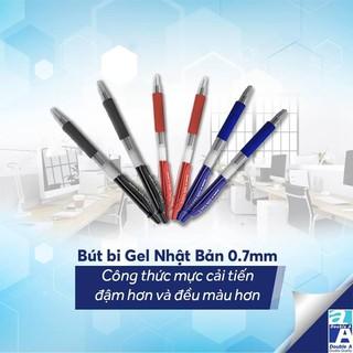Bút Bi Mực Gel Cao Cấp - Ngòi 0.7mm Double A