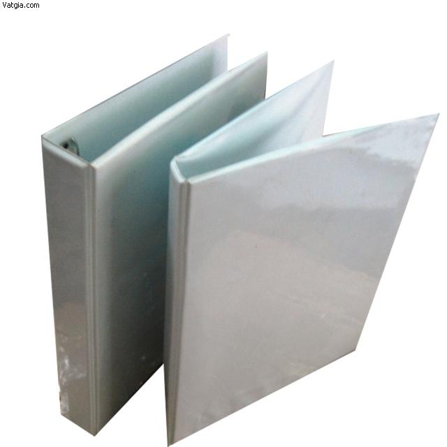 Bìa còng 3.5 F trắng kiếng A