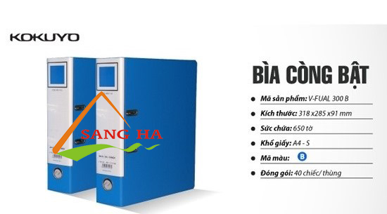 File còng bật khổ A4-S 10cm V-Fual 305B