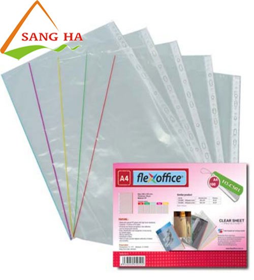 Bìa lỗ Thiên Long A4 FO - CS01 (có viền màu 0.045mm)
