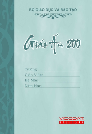 Tập 200 trang Giáo án