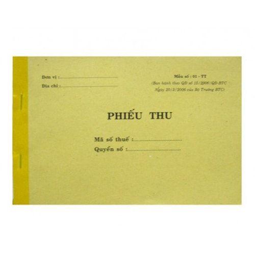 Phiếu thu 1 liên P-205